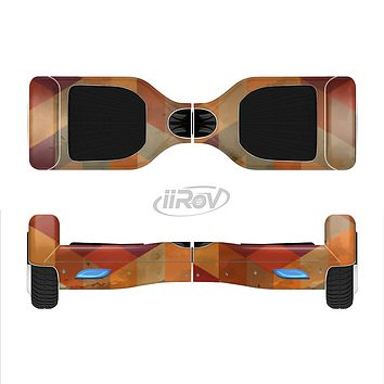 The Autumn Colored Geometric Pattern Full-Body Skin Set for the Smart Drifting SuperCharged iiRov HoverBoard