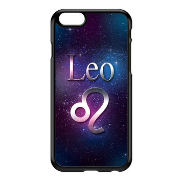 Leo Black Hard Plastic Case for iPhone 6 by textGuy