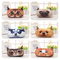 3D Plush Animal Cute Cartoon Kawaii Pencil Pencil Bag Kids School Supplies Material Stationery Case Plush