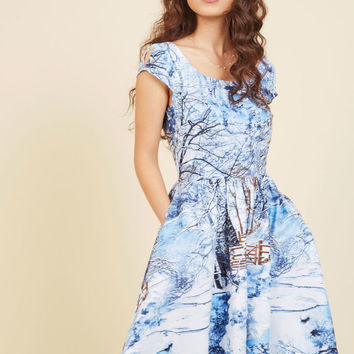 All Is Not Frost A-Line Dress