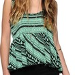 Empyre Griffith Mint Tribal Crop Tank Top