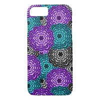 Turquoise Teal Blue Lavender Purple Grey Dahlia iPhone 7 Case