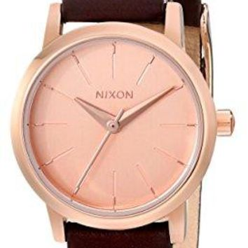 Nixon Womens Kenzi Stainless Steel Watch with Leather Band