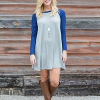 You Love The Game Raglan-Sleeve Tunic Dress