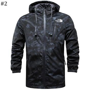 The North Face 2018 new camouflage breathable and quick-drying outdoor windproof thin zipper jacket #2