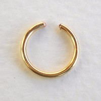 14K Gold Filled Ear Cuff or Fake Nose Ring G18 8mm