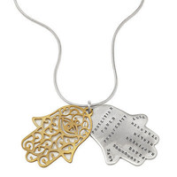 PROTECTION HAMSA NECKLACE | Jewelry, pendant, hand of Fatima, hand of Mary, hand of Miriam, gold, silver, Kathy Bransfield | UncommonGoods