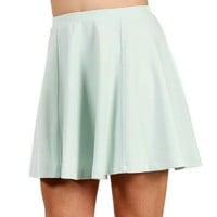 SALE-Mint Skater Skirt