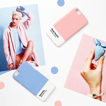 iPhone case - Pantone's 2016 trend colors 'Serenity' - iPhone 6s case, iPhone 5s case, iPhone 6s+case non-glossy L30