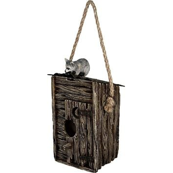 Outhouse/Raccoon Birdhouse