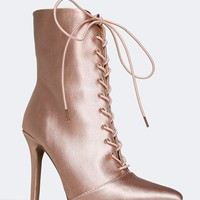Satin Lace Up Heels