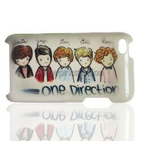Super Star Cartoon One Direction 1d Pattern Hard Case Protector Cover for Apple iPod touch 4 4th