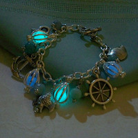 Mermaids Magic Charm Bracelet  Featuring Mini by Clover13 on Etsy