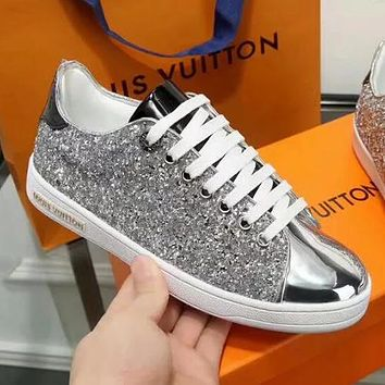 Louis Vuitton LV Sequins Women Fashion Flats Shoes