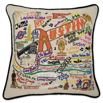 Austin Hand Embroidered Pillow