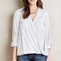 Holding Horses High-Low Surplice Blouse