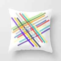 Lines  Throw Pillow by Irmak Berktas