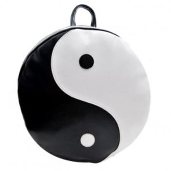 Tai Chi Pattern Black White Backpack