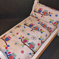 Cute Owls on a Branch Bed Set for American Girl and 18 inch Dolls
