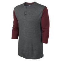 Nike Store. Nike Dri-FIT Wool 3/4-Sleeve Henley Men's Shirt