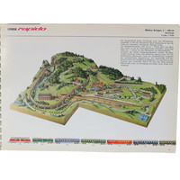 1960s Train Track Layout Guide by Arnold Rapido, Vintage Model Trains