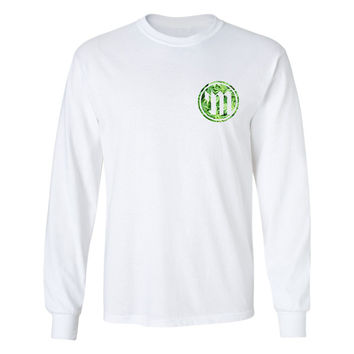 Myster Circle Logo L/S Tee - Green Trees