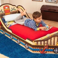 Pirate Toddler Bed With Storage Ship Boat KidKraft Bedroom Furniture New
