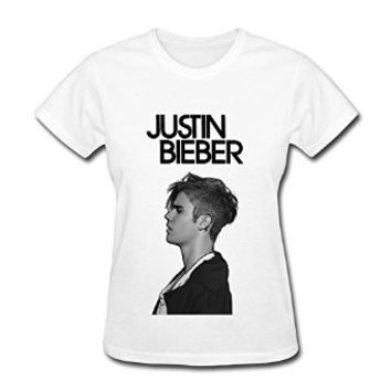 FK Waiting Justin Bieber Purpose World Tour 2016 T Shirt For Women White