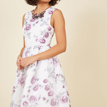 Thriving Lifestyle Fit and Flare Dress in Zinnia | Mod Retro Vintage Dresses | ModCloth.com
