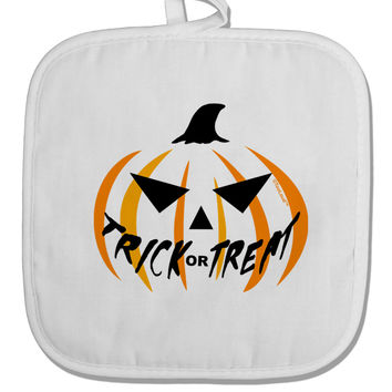 Trick or Treat Jack White Fabric Pot Holder Hot Pad