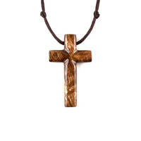 Mens Cross Necklace, Wooden Cross Pendant, Wooden Cross Necklace, Cross Necklace, Christian Jewelry, Mens Cross Pendant, Hand Carved Cross