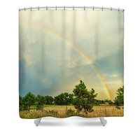 Just Another Colorado Rainbow Shower Curtain