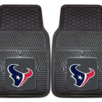 Houston Texans Heavy Duty Vinyl Front Seat 2 Piece Car Mat Set