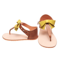 Zuzii - Vivi Sandal with Citrus Bow - HONEY