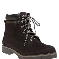 Soda™ Faux Suede Zipped Utility Boots | Wet Seal