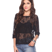Relaxed Raglan Lace Top | FOREVER21 - 2000034713