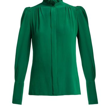 Lamia ruffle-trim silk blouse | Isabel Marant | MATCHESFASHION.COM US
