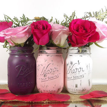 bdea4cd29478 Bridal Shower Decor    Rustic Wedding Decor Mason Jars    Bridal