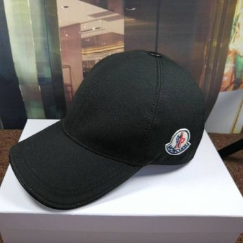 Moncler Men Women Cashmere baseball Hat cap Black
