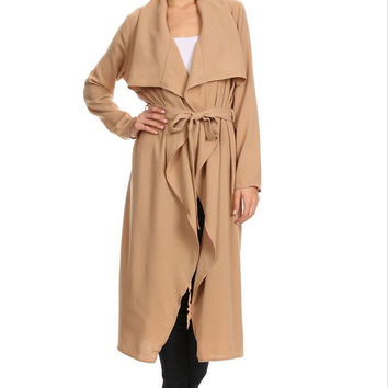 Camel Spring Trench Coat