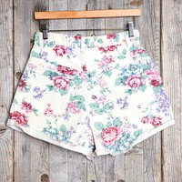 Vintage Floral Cuffed Short - Urban Outfitters