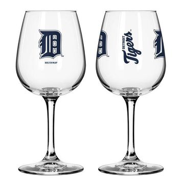 ICIKG8Q MLB Boelter Brand Detroit TIgers 12oz Game Day Wine Glass