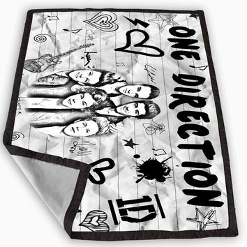 One Direction Fan Art Blanket for Kids Blanket, Fleece Blanket Cute and Awesome Blanket for your bedding, Blanket fleece *