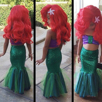 2016 sexy costumes for baby girls princess ariel dress The little Mermaid Ariel princess Cosplay costume & Shop Ariel Little Mermaid Costume on Wanelo
