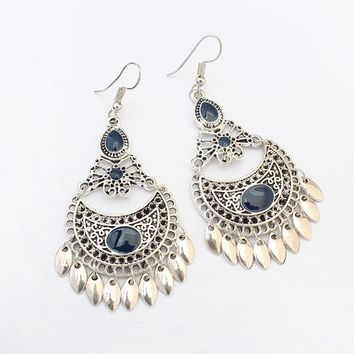 Drop Earrings for women Ethnic Bohemia Indian Jewelry Women Accessories Vintage Big Dangle Hanging Earrings Long Brincos 2018
