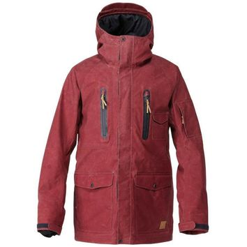 Quiksilver Dreaming Jacket 10k, Dark Red (Size XL)
