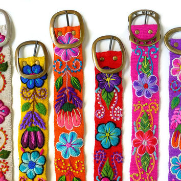 Wholesale lot of 25 embroidered belt floral, wholesale peruvian belts, wholesale embroidered belts, belt embroidered, floral belts