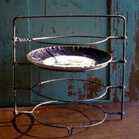 Vintage Wire Cooling Rack, Pie and Cake Stand, Dessert Display, Wirework, Tea Party Serving Tray, Baking Utensil, Retro Farmhouse Kitchen