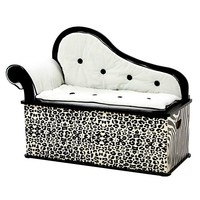 Levels of Discovery Wild Side Storage Bench (Ivory/Black)