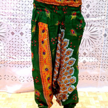 Indian Harem yoga Pants - new Loose Genie Gypsy boho Alibaba Baggy festival yoga Harem Pant Trouser Jumpsuit